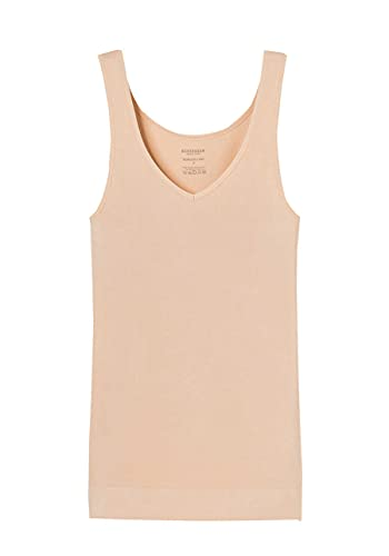 Schiesser Tank Top Camiseta Interior, Beige (Nude 410), M para Mujer