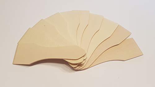 KO&CO Raclette Schaber aus heimischem Buchenholz, per Hand in der EU gefertigt, jedes Stück EIN Unikat, 13 cm lang, nachhaltig, wiederverwendbar, schont beschichtete Pfännchen, stabiles Zubehör (10)