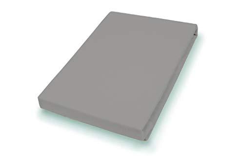 Premium Jersey Split-Topper Hoeslaken met elastaan | kiezel | 180-200 x 200-220 cm 180-200 x 200-220 cm