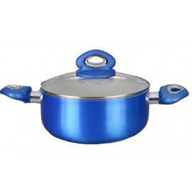 Diamond Home Blue 4.25 Qt. Ceramic Nonstick Sauce Pan