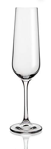 190ML Bohemia Cristalino Nuevo /& Pintado a Mano en Oro 6 Copas de Champagne