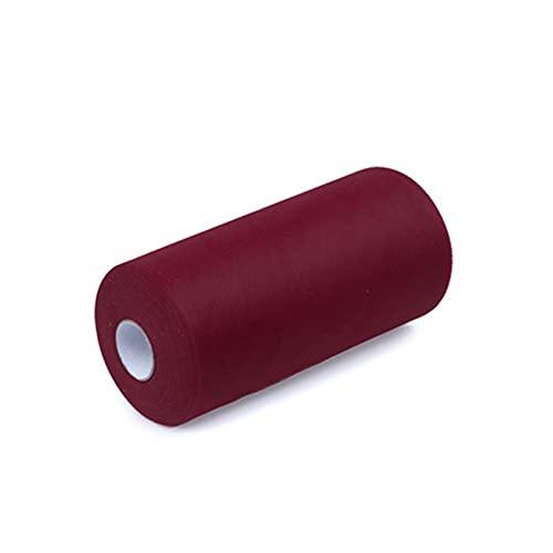 HOUJHUR Tejido de Rollo de Tul de Organza para la decoración de la Boda. TUTÚ Falda Baby Shower Fiesta y Eventos 100 Yardas 30 cm (Color : Vino Rojo, Size : 1pc)