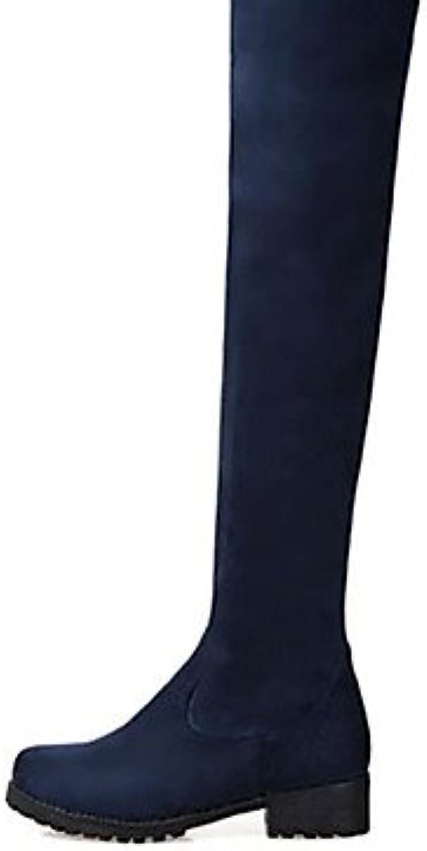 GLL&xuezi Damen Stiefel Komfort PU Herbst Winter Normal Blockabsatz Schwarz Blau Burgund 2,5 - 4,5 cm  | Sale Deutschland