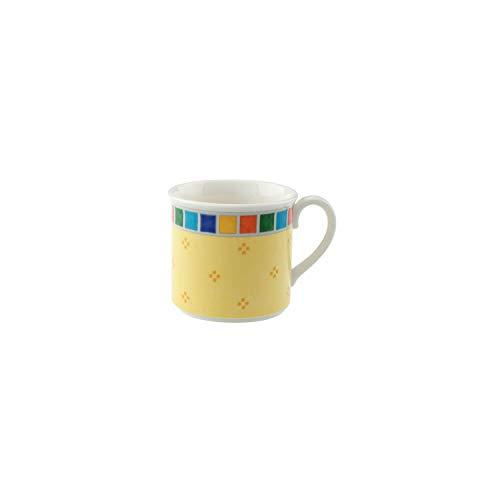 Villeroy & Boch Twist Alea Limone Mokka-/ Espressotasse, 100 ml, Höhe: 5,5 cm, Premium Porzellan, Weiß/Gelb