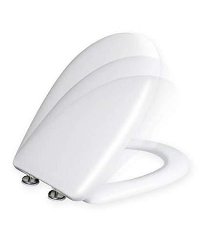 Tapa y asiento de inodoro con caida amortiguada - Compatible con Gala Elia
