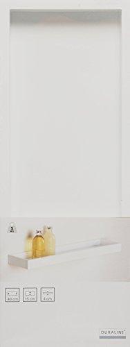 Duraline Vertiefter Regalboden Dekoratives Wandregal, MDF, Weiß, 15 x 4 x 40 cm