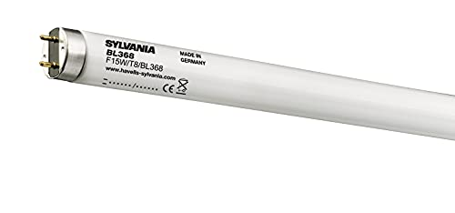 Sylvania 0000082 - Lámpara Fluorescente 15w t-8 luz Negro bl368