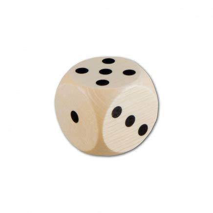 HOFMEISTER® Würfel aus Holz, 3 x 3 cm, für Kinder oder zum Spielen, 100% europäisches Naturprodukt, aus heimischem Buchen-Holz, mit Augenzahlen