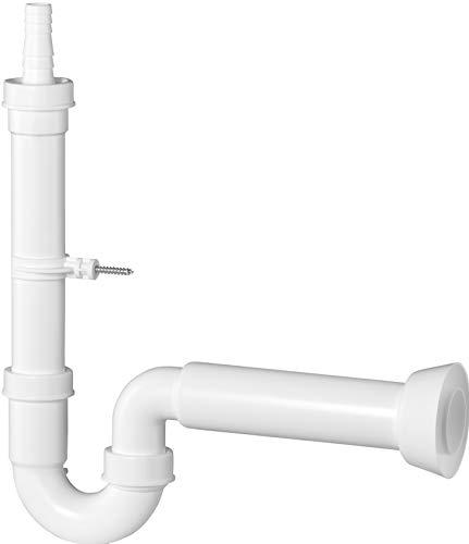 Cornat Geräte-Geruchsverschluss - 1 1/2 Zoll x 50 mm - Mit Tülle & Wandhalterung - Hergestellt aus robustem Kunststoff - Made in Germany Qualität / Gerätesiphon / T355104