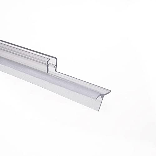 Schulte Dichtung Dusche Duschdichtung Schwallschutz Wasserabweiser Dichtlippe 5 mm 100 cm, 1 Stück, transparent, 4056397002215