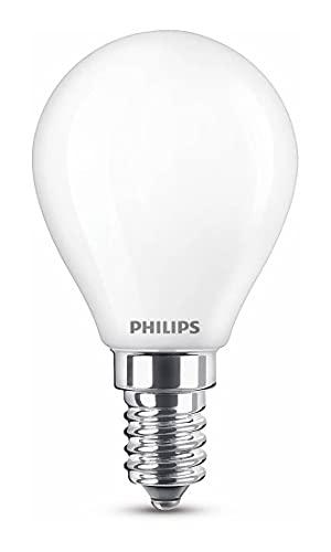 Philips LED classic E14 Lampe, Tropfenform, 250 Lumen entsprechen 25W, warmweiß (2.700 Kelvin), matt