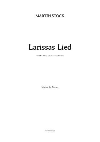 Larissas Lied : für Violine und Klavier