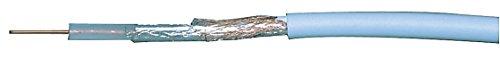 WELL RG59-CU/CU-100-WL Coaxial Kable, 75R, 1x 0.64 mm, Copper Wires mit Al foil, PE Foamed und 48 x 0.10mm/6mm PVC weiß