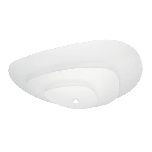 Moledro Eisen Glas Deckenleuchte in Weiß,Weiß weiß | Handgefertigt in Italien | Deckenlampe Modern Design Dimmbar | Lampe E27