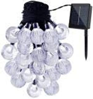 Solar Powered String Lights, 30 LEDs White Crystal Ball Waterproof Outdoor Fairy String Lighting for Garden, Home, Landsca...