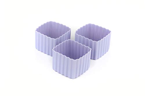 Little Lunch Box Co., Bento Cups, Silikonformen für Bento Box (Lila, Square)