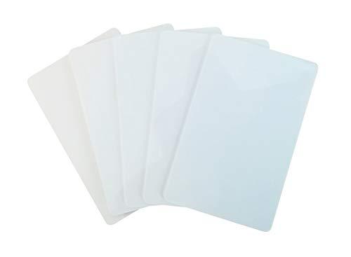100 Premium Plastikkarten/PVC Karten Weiss, 1-5000 Stück, Rohlinge, blanko, Kartendrucker, NEU! (100)