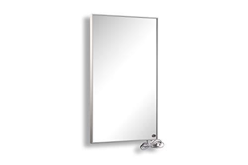 FERN INFRAROT SPIEGELHEIZUNG mit weißem Rahmen (neueste Technologie) 1000W Spiegel Heizung mit höchsten Sicherheitsstandards, 50 Jahre/100.000Std Lebensdauer (Infrarotheizung mit Spiegel)