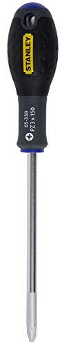Stanley FatMax Schraubendreher Pozidriv PZ3 (150 mm Schwertlänge, Chrom-Vanadium ergonomischer SoftGrip Handgriff) 1-65-338
