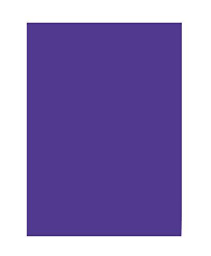 folia 6332 - Tonpapier dunkelviolett, DIN A3, 130 g/qm, 50 Blatt - zum Basteln und kreativen Gestalten von Karten, Fensterbildern und für Scrapbooking