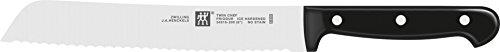 ZWILLING Brotmesser, Klingenlänge: 20 cm, Klingenblatt mit Wellenschliff, Rostfreier Spezialstahl/Kunststoff-Griff, Twin Chef