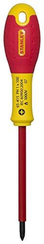Stanley FatMax Destornillador FatMax Phillips PH1 X 100 mm 1-65-415, Rojo/Amarillo