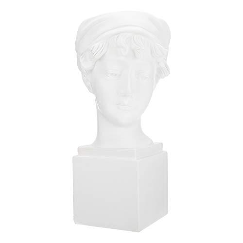 YARNOW Escultura de Busto de Cabeza Humana Maceta Suculenta Maceta Belleza Estatua de La Cara Jardín Artístico Macetas de Bonsai Caja de Alféizar Contenedores para Patio Césped