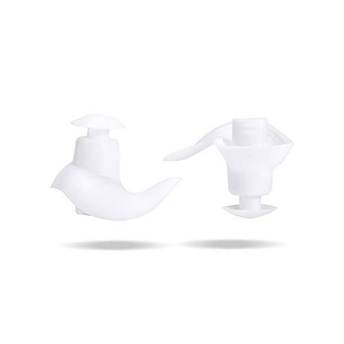 Tapones de silicona, Suave y confortable Antibacteriano y duradero Protección Auditiva Tapones reducción de ruido Para Dormir Adecuado Suave Anti-otitis Nadar Bañarse