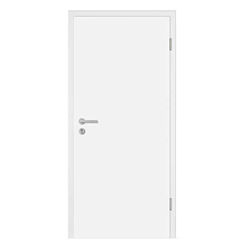 HORI® Wohnungseingangs-Tür CPL Weiß Komplettset Zarge I Schallschutztür SK1 Klimaklasse 3 I Höhe 198,5 cm I Breite 86,0 cm I Wandstärke 200 mm I DIN Rechts