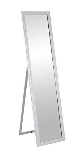 HAKU Möbel Standspiegel, PVC, silberfarben, B 40 cm x T 47 cm x H 156 cm