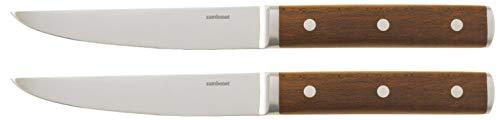 Sambonet Rosenthal Steakmesser - 2 er Set - Sirloin - Edelstahl/Ahorn