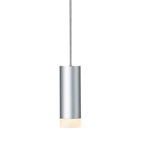 SLV Hängelampe ASTINA | Dimmbare Hängeleuchte, Pendelleuchte für Wohnzimmer, Bar, Esszimmer| Decken-Lampe in exklusivem Zylinder Design (Material Aluminium, GU10 Leuchtmittel, Grau)