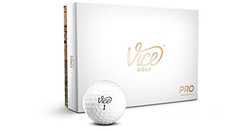 Vice Pro Golf Balls, White (One Dozen)