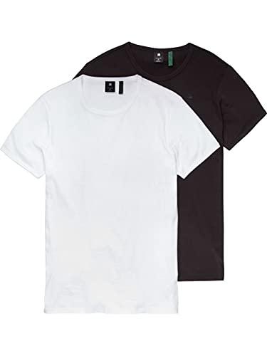 G-STAR RAW D07205 Camiseta, Blanco/Negro 124-1288, XS para Hombre