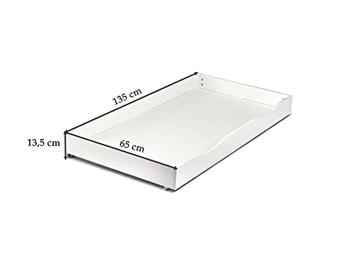 Leomark KINDERBETT 140×70 mit Schublade Funktionsbett Einzelbett mit Matratze Motiv: Pony Sehr Einfache Montage, Bettkasten - 4