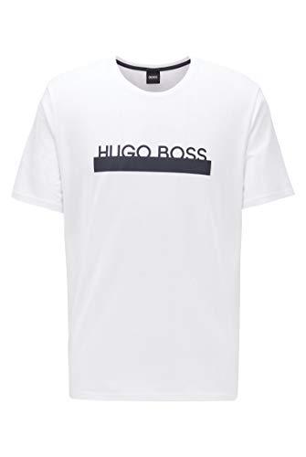 BOSS Herren Identity T-Shirt RN Pyjama-T-Shirt aus Stretch-Baumwolle mit Logo der neuen Saison