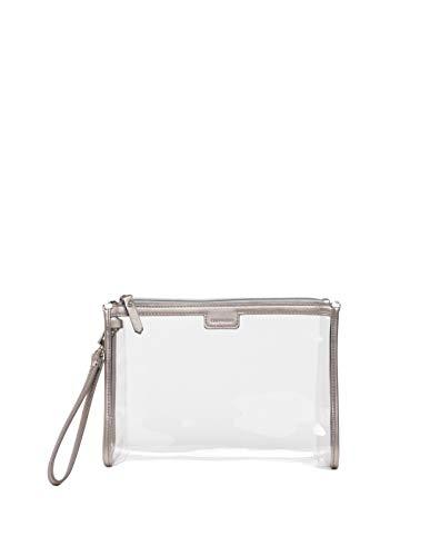 CHIC-A-BOO - Organizador de pañales portátil, para cambiar pañales, regalo de bebé, ligero e impermeable, diseño italiano, se limpia con un paño húmedo (plata)