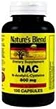 Nature's Blend NAC (N-Acetyl-L-Cysteine) 600 mg 100 Capsules Pack of 4