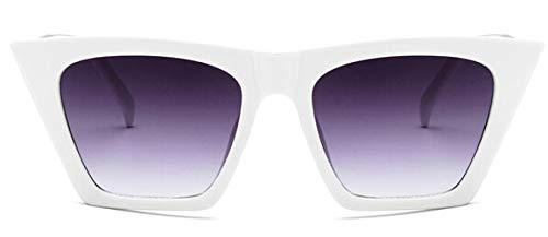 Gafas De Sol Retro con Forma De Ojo De Gato para Mujer, Diseño De Marca, Gafas De Sol Vintage para Mujer, Gafas De Sol Negras, Uv400, Whitegray