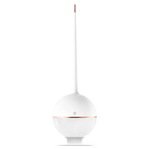 Liangsujian td - Lámpara de mesa de camping, lámpara de mesa portátil LED de doble alcance, lámpara de mesa de tiempo, plegable, lámpara de mesa táctil, intensidad regulable