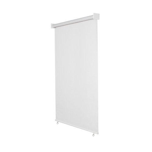 jarolift Außenrollo Senkrechtmarkise 240 x 240 cm (BxH) Weiss, Sonnenschutz Sichtschutz für Balkon Terrasse