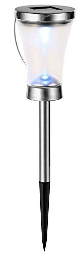 LED Lanterne solaire 3 en 1 – Lot de 2 – peut être porté Lanterne Lampe de table et bordure Lampe acier