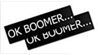 "2 Count Ok Boomer Premium Bumper Sticker Printed in The USA Larger Size: 11 /½/"" x 3/"". Inspiring Press"