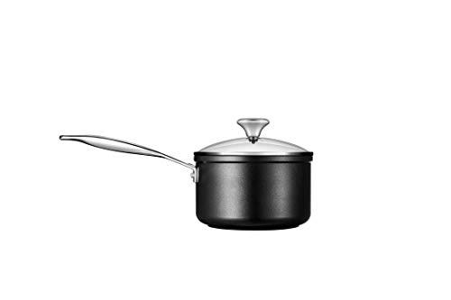 Le Creuset Toughened PRO 2 qt. Cazo con tapa de cristal antiadherente, color gris