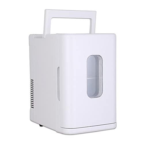 Tivivose Mini 10L Capa Uso en el hogar Mini refrigerador Más frío Calentador Dual Uso de la Caja de Nevera Control de Temperatura 12V / 220V Dormitorio (Color Name : White)