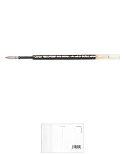 ぺんてる 油性ボールペンリフィル BKS8J 黒 BKS8J-A / 10セット + 画材屋ドットコム ポストカードA