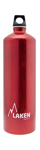 Lakin Borraccia in Alluminio–Apertura Stretta, Vari Colori e Misure, Unisex Adulto, 73-R, Rosso, 1L