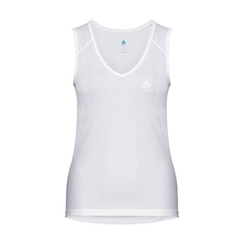 Odlo Cubic Light, Suw - Maglietta Intima Donna, Bianco, XS