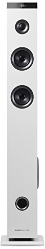 Energy Sistem Tower 3 g2 Altavoz torre de sonido con Bluetooth (45W, RCA, USB, MicroSD, 3.5 mm Audio-in) - Blanca