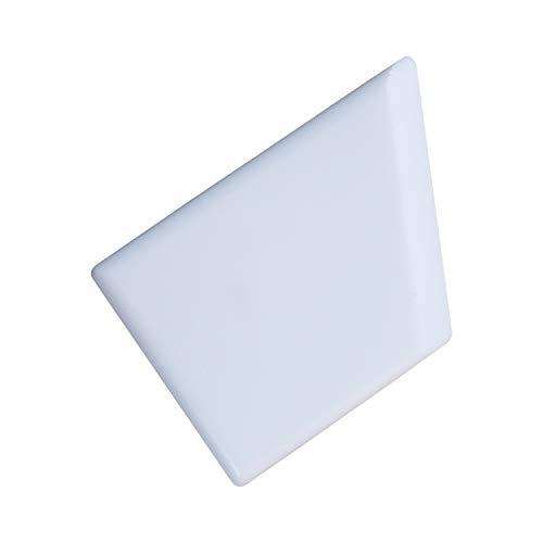 Crafty Gnome Teflon Ergo Square Bone Folder - 100% Teflon, Extra Smooth, White, Premium Quality for Scoring, Folding, Creasing, Bookbinding, Origami, Scrapbooking & More